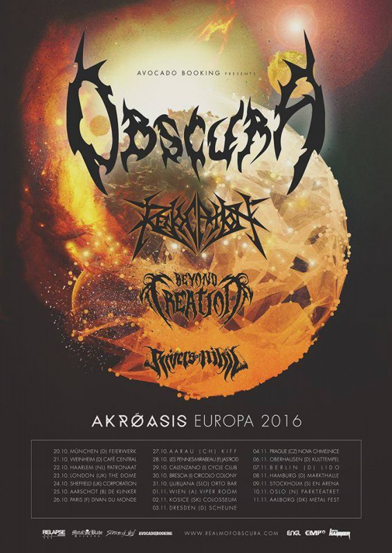 OBSCURA, REVOCATION, BEYOND CREATION, RIVERS OF NIHIL