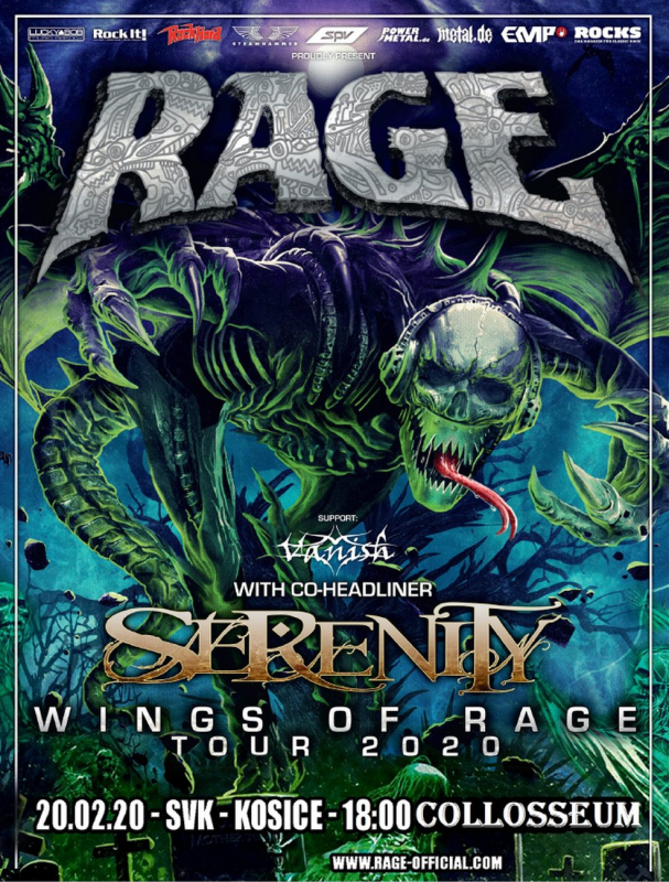 RAGE: Wings Of Rage tour 2020