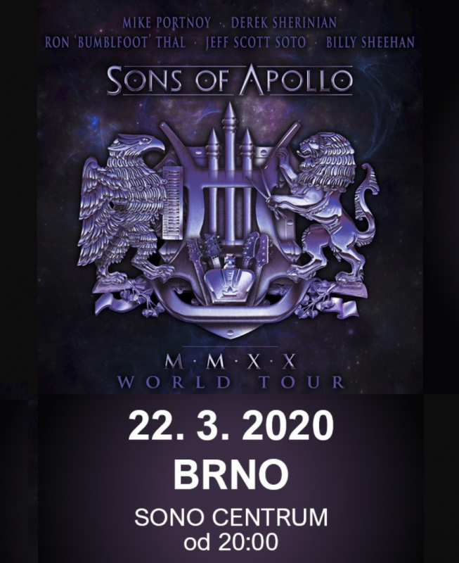 SONS OF APOLLO @ Brno