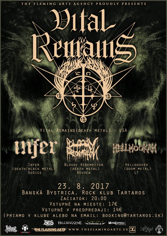 VITAL REMAINS + supports