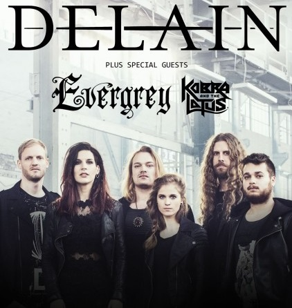 DELAIN, EVERGREY, KOBRA AND THE LOTUS v Bratislave
