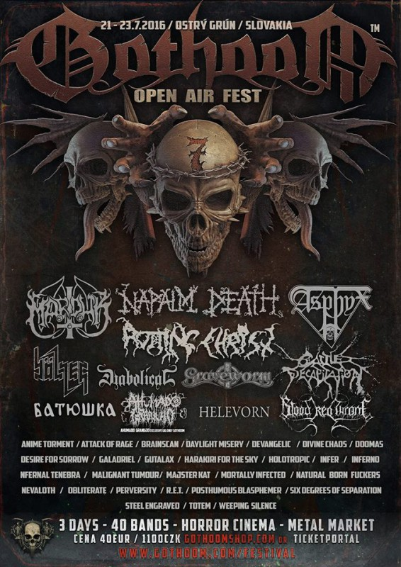 Program GOTHOOM Open Air Fest