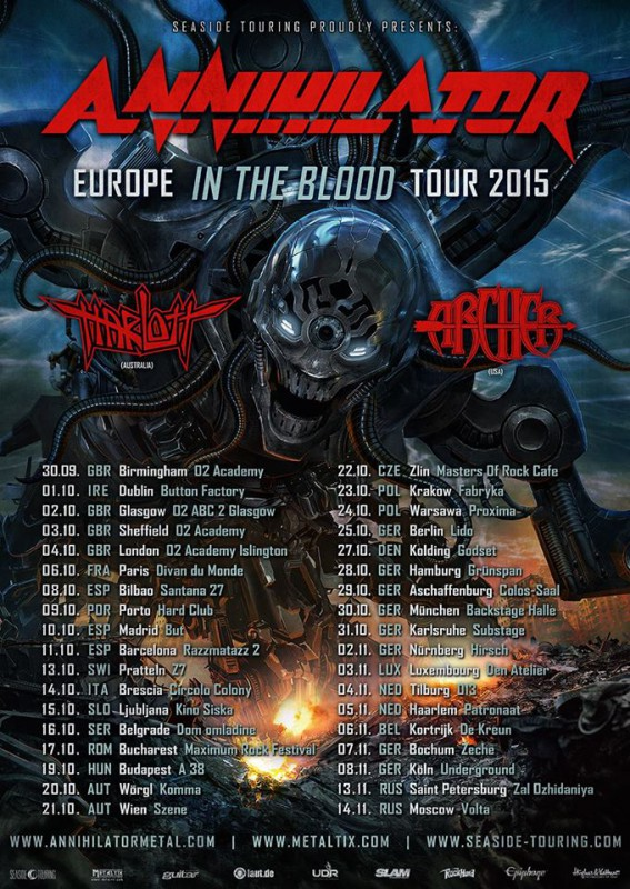 ANNIHILATOR:  Europe In The Blood Tour
