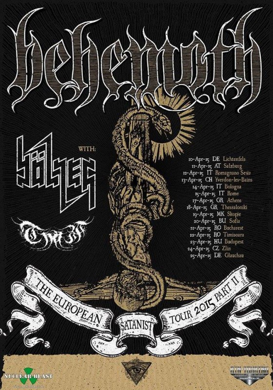 BEHEMOTH: the European Satanist tour