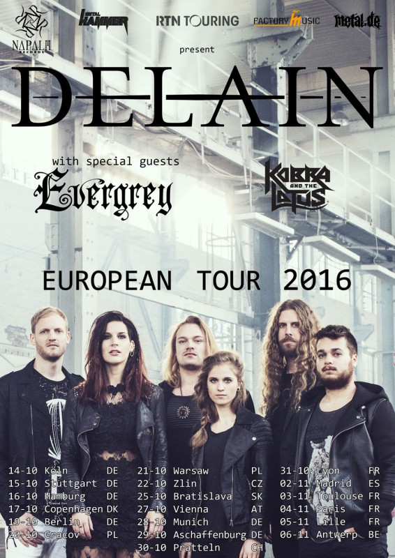 DELAIN, EVERGREY, KOBRA AND THE LOTUS
