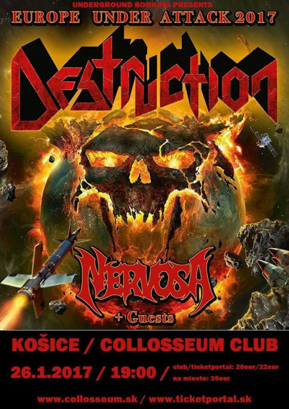 DESTRUCTION, Nervosa: Thrash s veľkým T