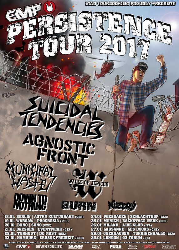 EMP PERSISTENCE TOUR 2017 - SUICIDAL TENDENCIES, AGNOSTIC FRONT + support