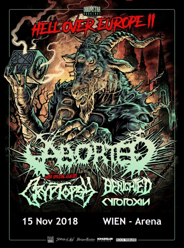 Hell over Europe II: ABORTED, CRYPTOPSY, BENIGHTED, CYTOTOXIN